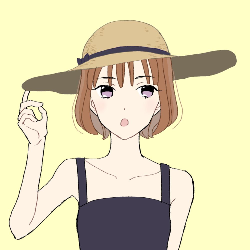 麦わら帽子の女の子|イラスト素材