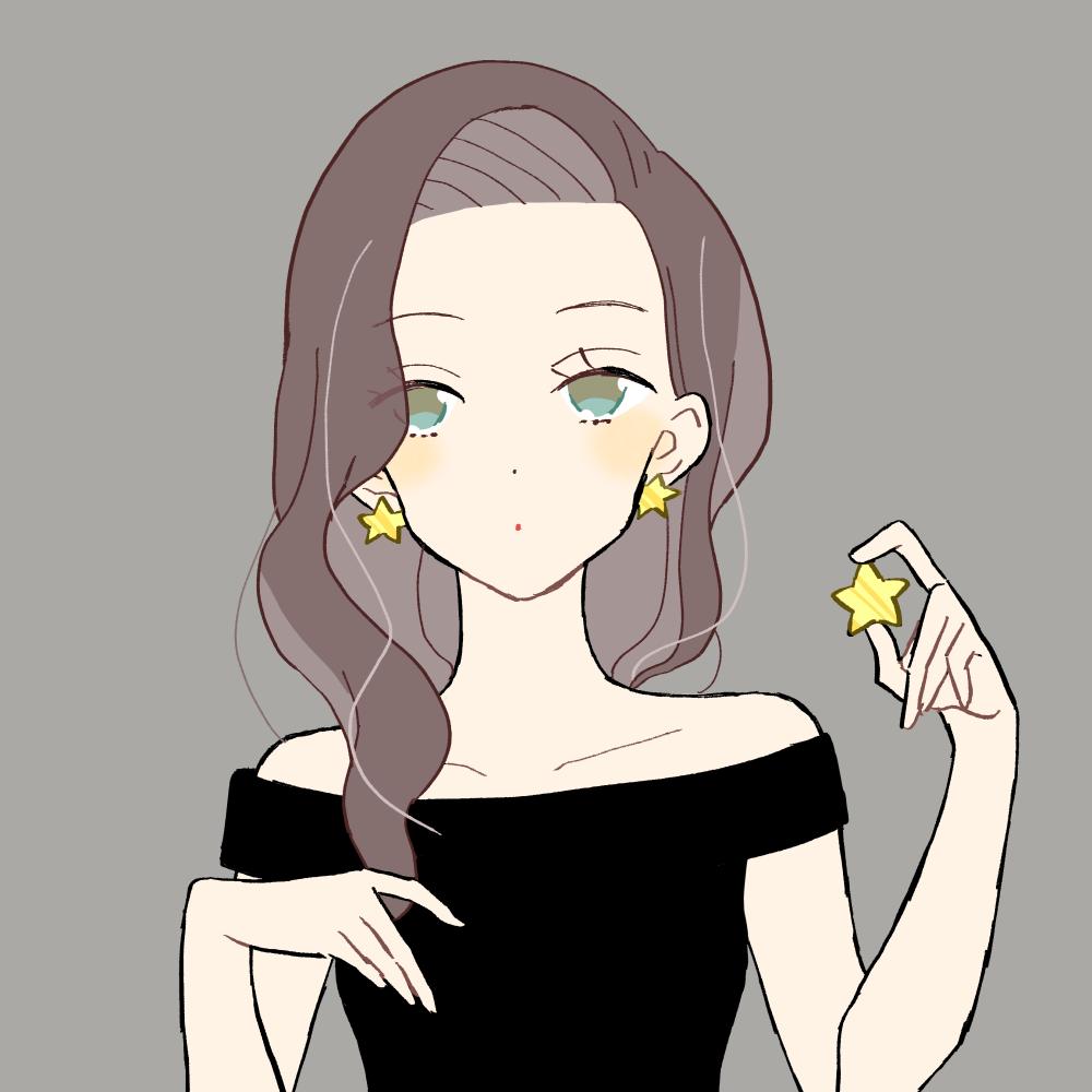 星アクセサリーの女の子|イラスト素材