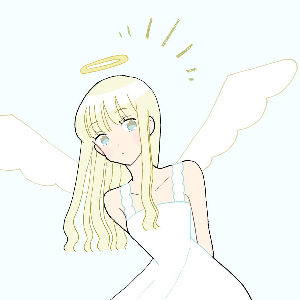 天使な女の子|イラスト素材