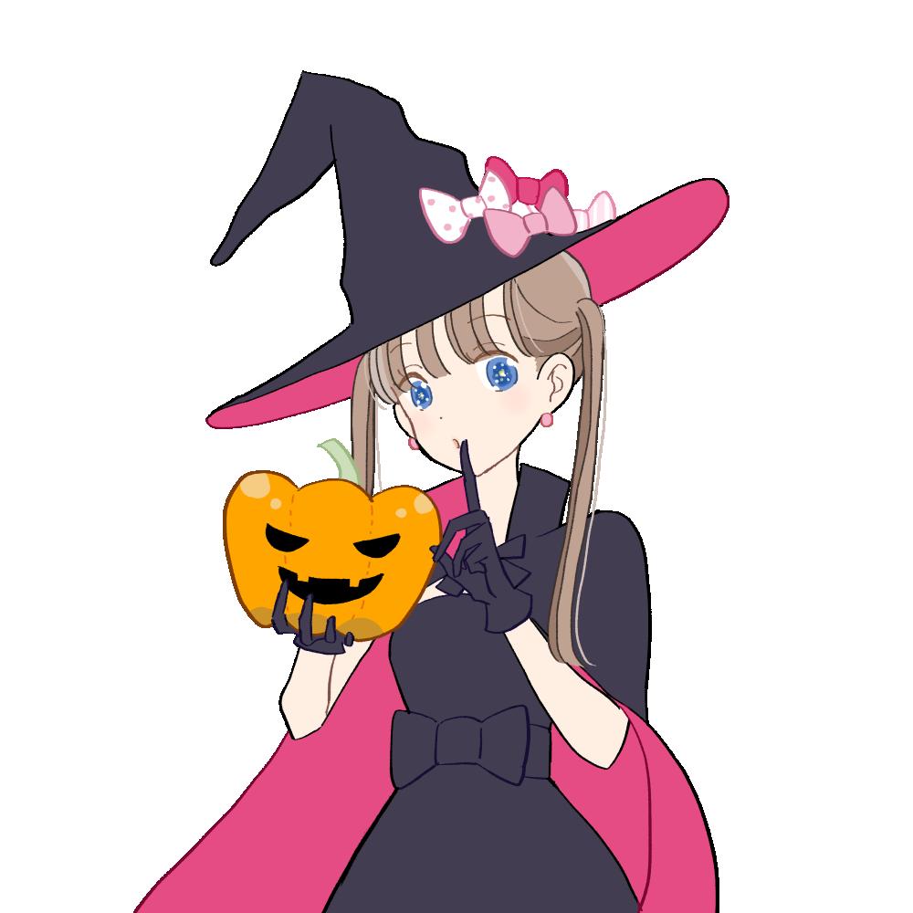 ハロウィン/魔女っ子な女の子|イラスト素材