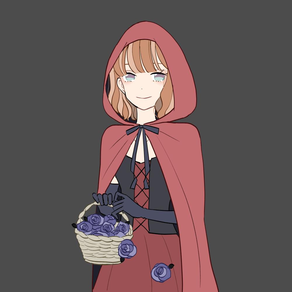 ハロウィン/赤ずきんの女の子|イラスト素材