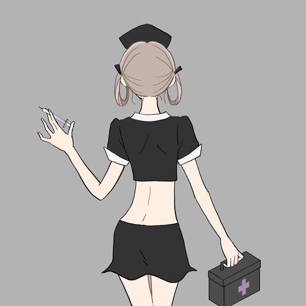 ハロウィン/ナースコスプレの女の子|イラスト素材